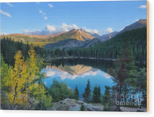 Bear Lake Reflection Wood Print