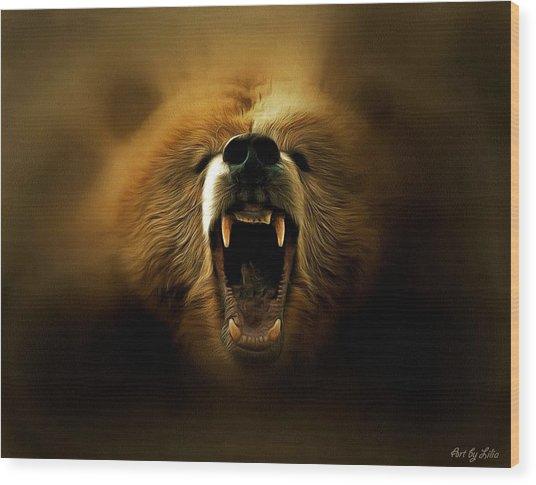 Bear Roar Wood Print