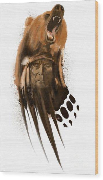 Bear Spirit  Wood Print