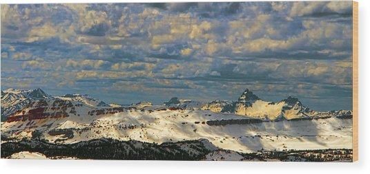Bear Tooth Mountain Range Wood Print