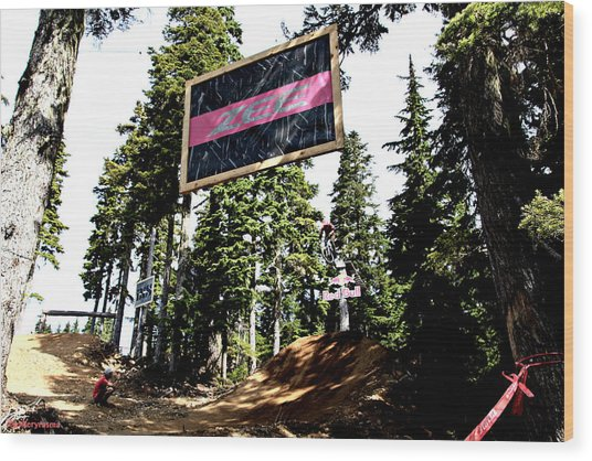 Bearclaw Sponsorship Wood Print