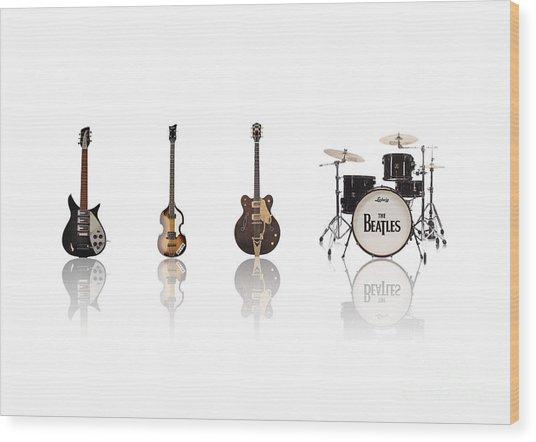 Beat Of Beatles Wood Print