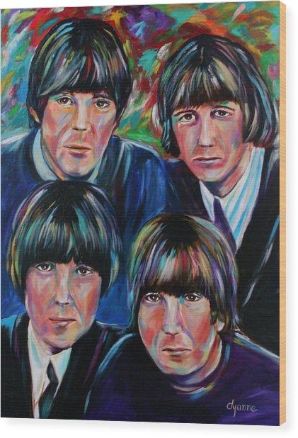 Beatles Wood Print by Dyanne Parker