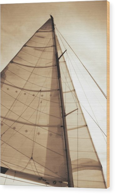 Beaufort Sails 1 Wood Print by Alan Hausenflock