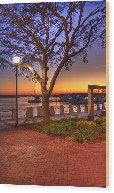 Beaufort Waterfront Wood Print
