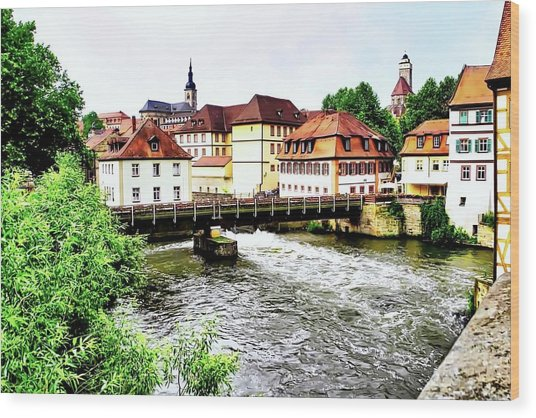Beautiful Bamberg On The River Wood Print