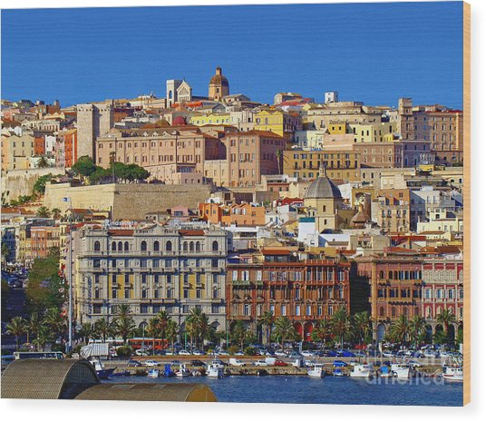 Beautiful Cagliari Wood Print