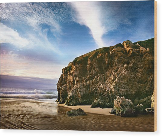 Beautiful Cove Wood Print by Edward Mendes