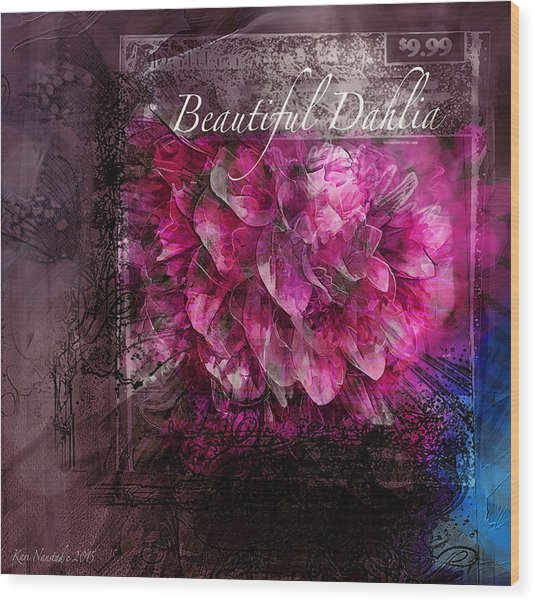 Beautiful Dahlia Wood Print