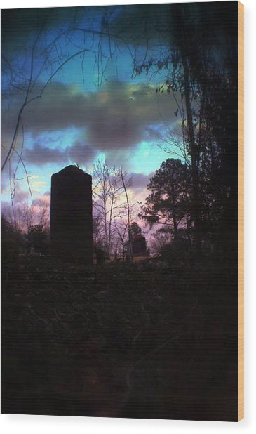 Beautiful Evening In The Graveyard Wood Print