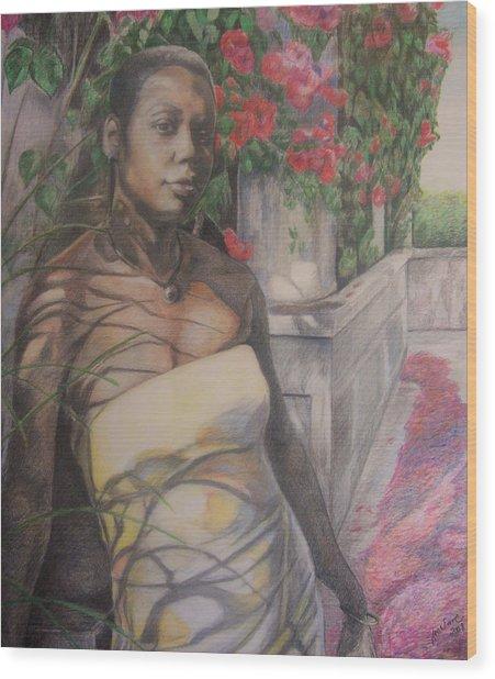 Beautiful Flower Wood Print by Joyce McEwen Crawford