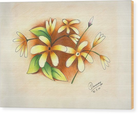 Beautiful Flowers Wood Print by Tanmay Singh