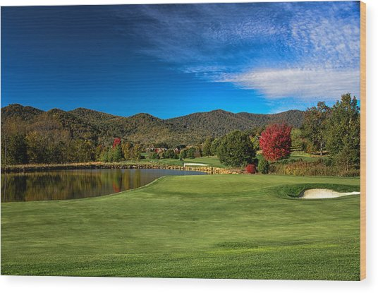 Colorful Golf Wood Print