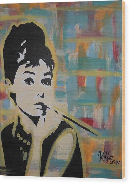 Beautiful Hepburn Wood Print