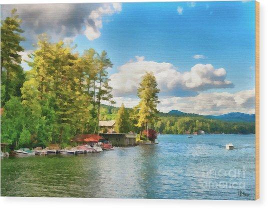 Beautiful Lake George New York Wood Print by Anne Kitzman