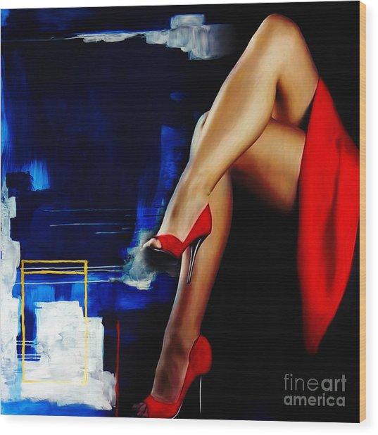 Beautiful Legs 02  Wood Print