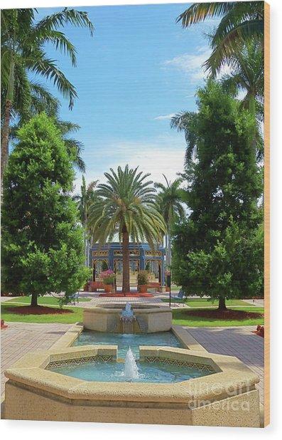 Beautiful Mizner Park In Boca Raton, Florida. #8 Wood Print