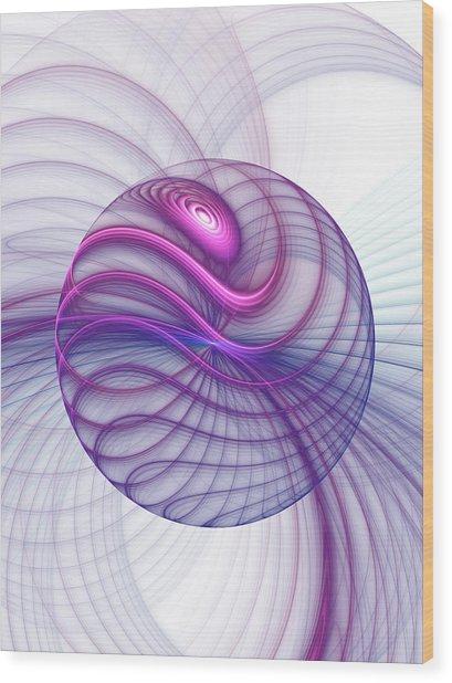 Beautiful Movements Fractal Art Wood Print