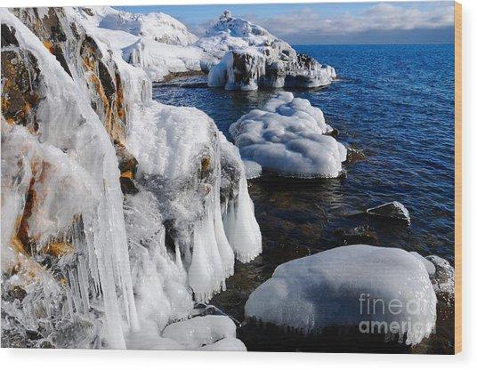 Beautiful Superior Ice Wood Print