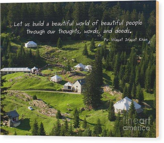 Beautiful World Of Beautiful People  Wood Print