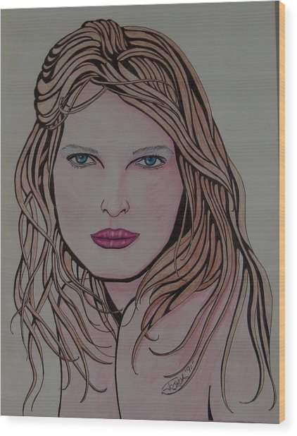 Beauty 1 Wood Print by Joshua Armstrong