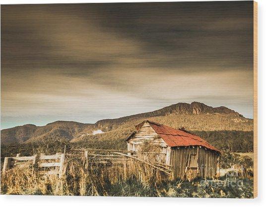 Beauty In Rural Dilapidation Wood Print