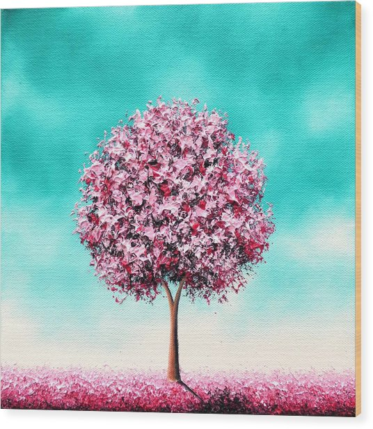 Beauty In The Bloom Wood Print
