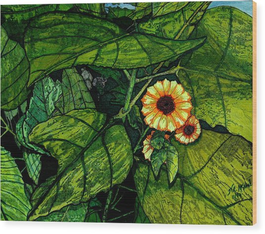 Beauty In The Midst Wood Print by Willie McNeal