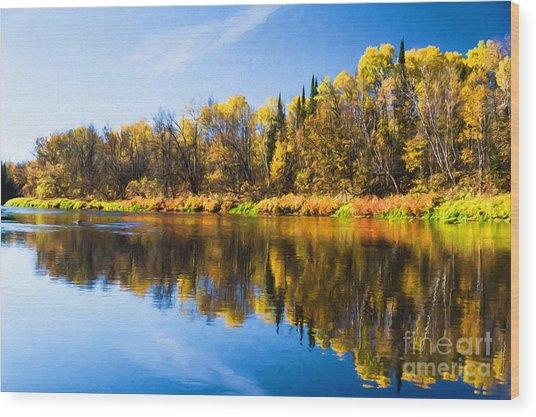Beauty On The Big Fork Wood Print