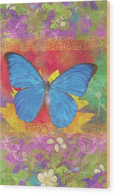Beauty Queen Butterfly Wood Print