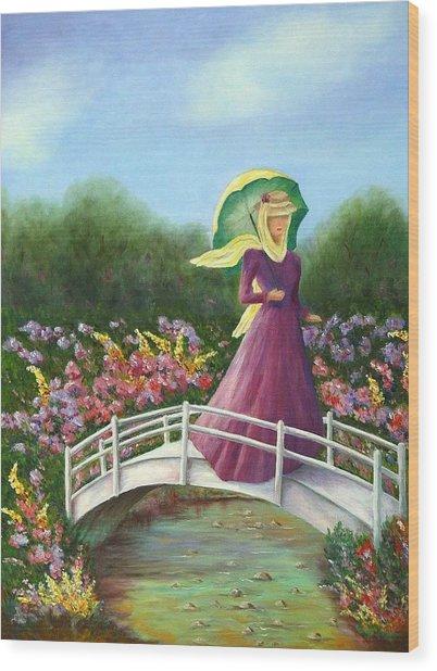 Beauty Wherever She Goes Wood Print by Merle Blair