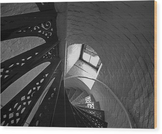 Beaver Island Lighthouse At High Noon Wood Print