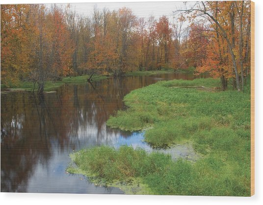 Beaver River Colors Wood Print
