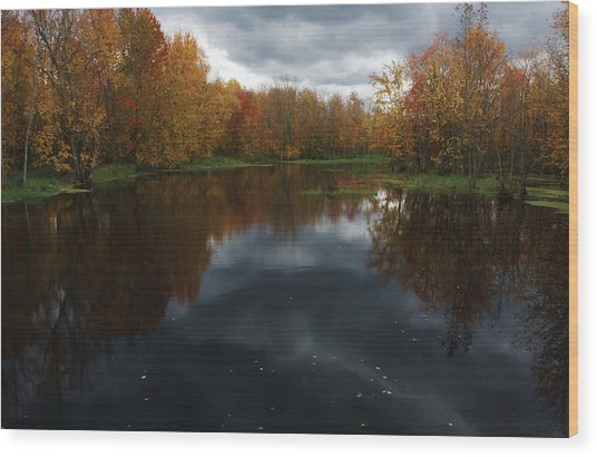 Beaver River Dramatic Wood Print