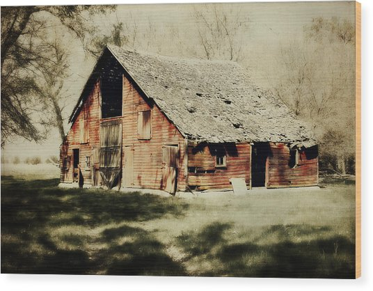 Beckys Barn 1 Wood Print
