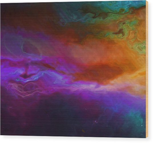 Becoming - Abstract Art - Triptych 1 Of 3 Wood Print