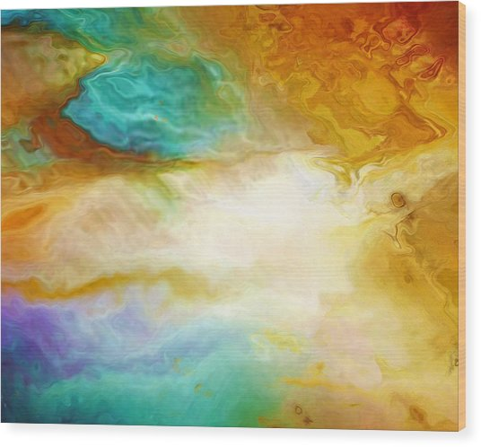 Becoming - Abstract Art - Triptych 2 Of 3 Wood Print