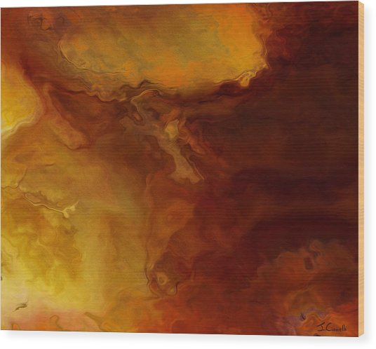 Becoming - Abstract Art - Triptych 3 Of 3 Wood Print