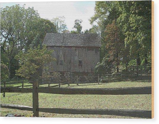 Bedford Barn Wood Print