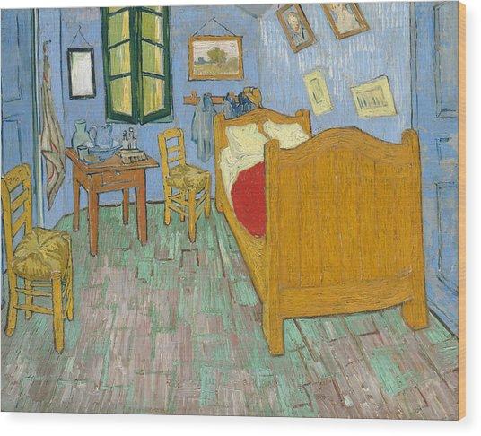 Wood Print featuring the painting Bedroom At Arles by Van Gogh