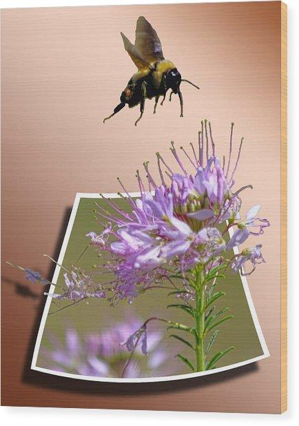 Bee Free Wood Print