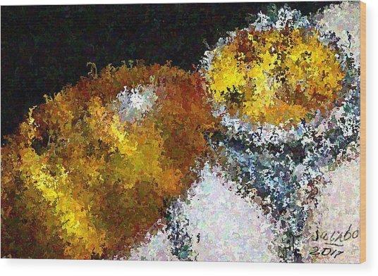 Bee Impression Wood Print