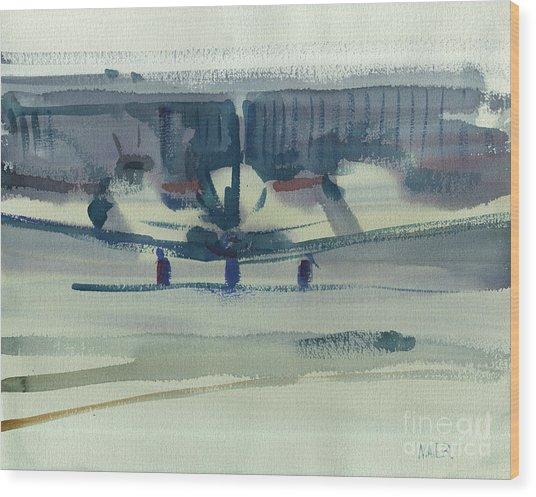 Beechcraft King Air Wood Print by Donald Maier