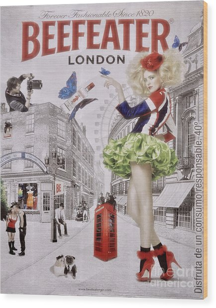 Beefeater Gin Wood Print