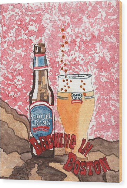 Beer From A Bottle No.6 Wood Print