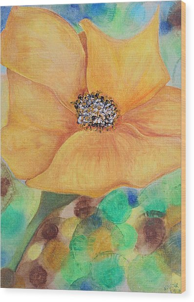 Bees Delight Wood Print