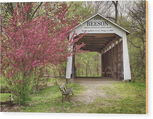 Beeson Covered Bridge Wood Print