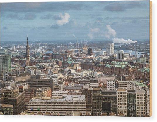 Befor A Snow Storm Hamburg Wood Print