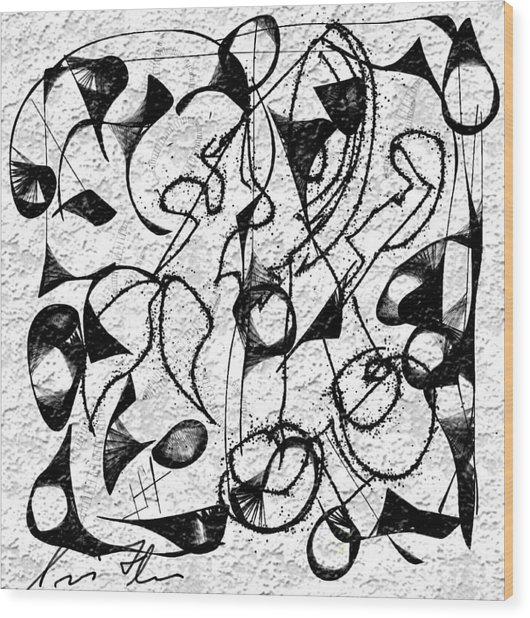 Befuddled Wood Print by Iris Fletcher