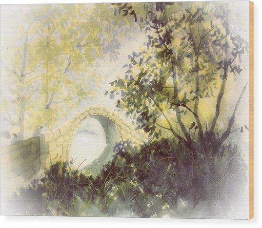 Beggar's Bridge Vignette Wood Print
